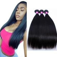 Brazilian Straight Hair 8A Brazilian Virgin Hair Straight 3 Bundles Brazilian Hair Weave Bundles Unprocessed Human Hair Weave