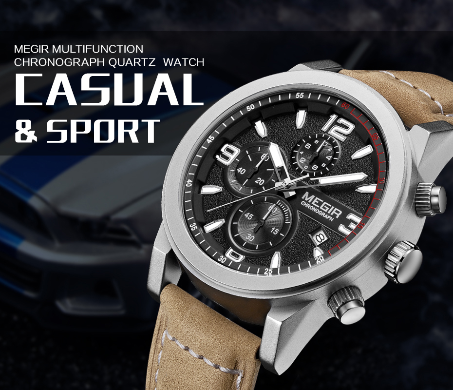 MEGIR Fashion Sport Watch Luxury Brand Leather Band Men Quartz Watches Chronogragph Clock Men Army Military Wrist Watch for Male 1  MEGIR Fashion Sport Watch Luxury Brand Leather Band Men Quartz Watches Chronogragph Clock Men Army Military Wrist Watch for Male HTB1WGPYPXXXXXXwXpXXq6xXFXXXK