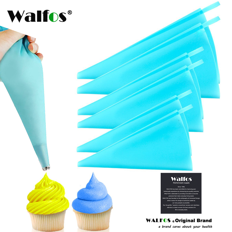 WALFOS Silicone Reusable Icing Piping Bag Pastry Bag Cake Cream DIY Decor Tool icing bag