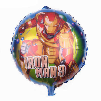 Счастливая 50 шт./лот 18 дюймовое железо человек Фольга воздушные шары с гелием в стиле супергероев на день рождения украшения, товары для вечеринки надувные шарики Globos
