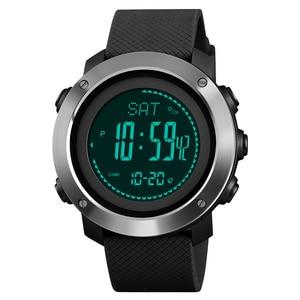 Image 3 - SKMEI חיצוני ספורט שעונים אופנה מצפן מד גובה ברומטר מדחום דיגיטלי שעון גברים טיולים שעוני יד relogio