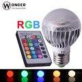RGB E27 lâmpadas globo AL alta dissipação levou holofotes da lâmpada AC86-265V 16 cores mutáveis 24 teclas do controlador remoto rgb iluminação