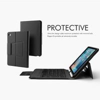 mini wireless bluetooth 4.0 Bluetooth Wireless Keyboard Case for iPad Mini 5/iPad mini 4, Premium PU Leather Folio Flip Cover with 7 color blacklight (2)