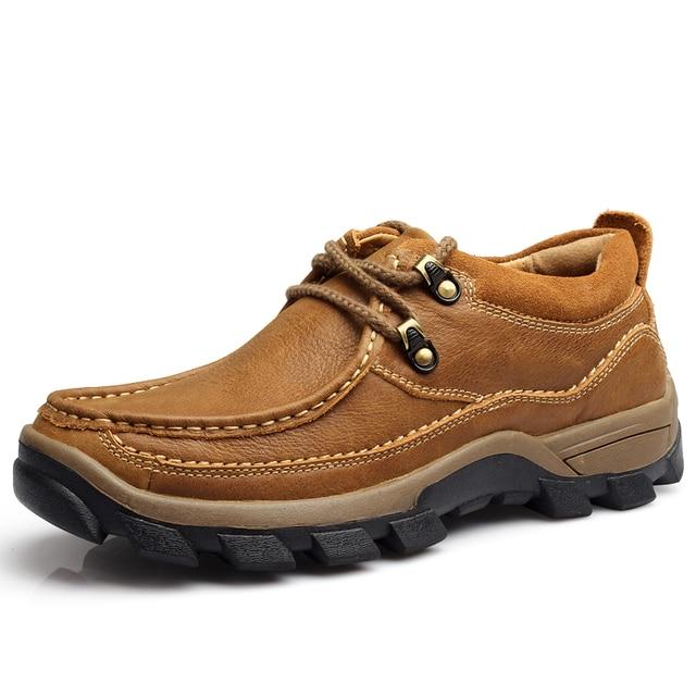 Cuatro temporada de alta calidad zapatos de vestir de cuero genuino de los hombres respirables y zapatos desodorante para el envío