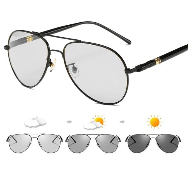 2019 New Design Women Men Polarized Sunglasses Outdoor UV Protection Lens Car Driving Chameleon Discoloration Glasses