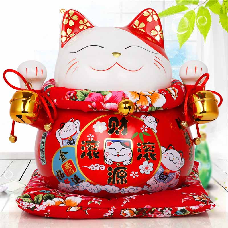 Home Lucky Cat ornaments large ceramic savings piggy bank creative office opening to friends gifts