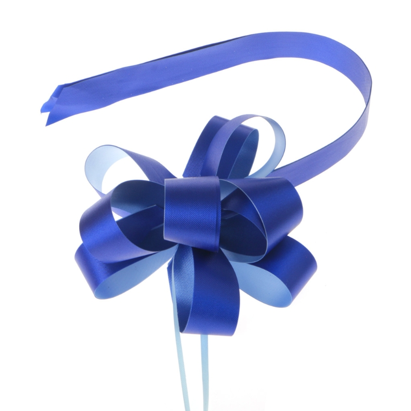 5Pcs/Set Craft Flower Pull Bow Ribbon Satin Edge Gift Wrapping Present Party Decoration