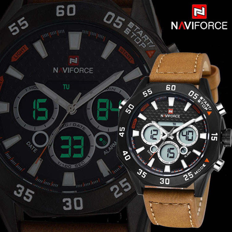 2015-New-Men-Watches-Luxury-Brand-Leather-Strap-Men-s-Quartz-Clock-Digital-LED-Watch-Army