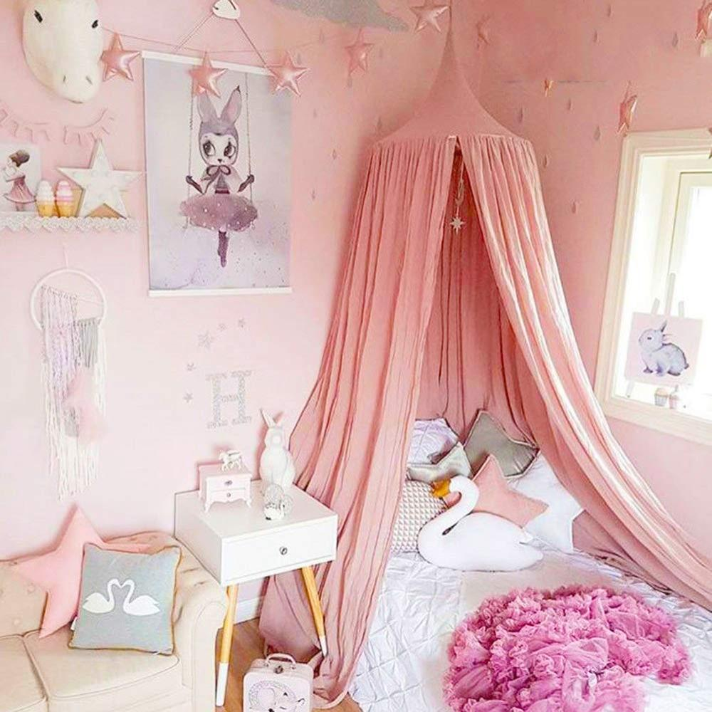 - Princess Bed Canopy Mosquito Net For Kids Baby Toddler Bed, Round