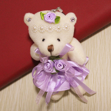 Cute 12CM Joint Bowtie Teddy Bear Super Kawaii Toy Doll font b Stuffed b font font