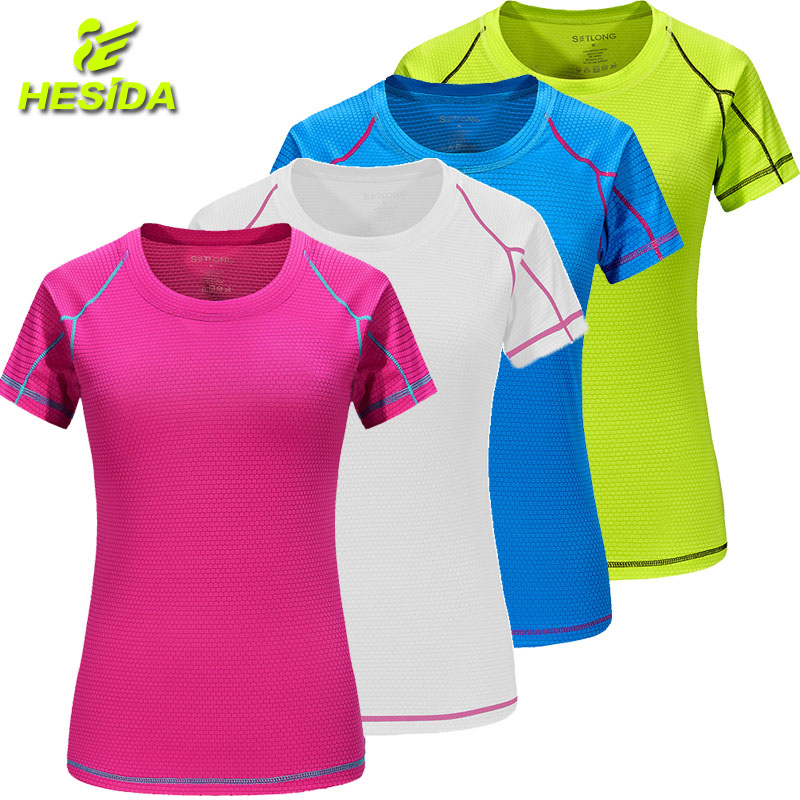 T-Shirt Women Quick Dry Breathable Sports Top Yoga Gym Fitness Clothing Sportswear For Womens T Shirt Running Training Workout