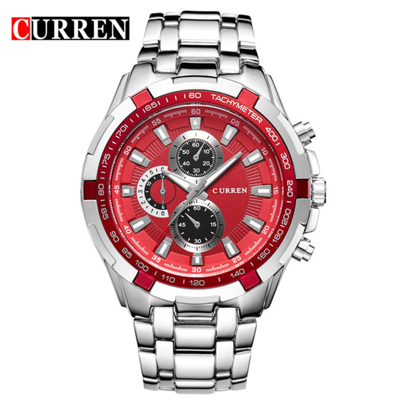 CURREN Men Watch Business Quartz Watch Casual Fashion Analog Military Wristwatches Luxury Watch men Waterproof Relogio Masculino men quartz watches military fashion men business casual quartz wristwatches 50m waterproof watch relogio masculino liebig 1018