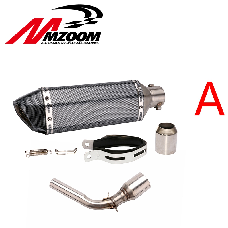 51mm Motorcycle Modified Exhaust pipe Muffler Exhaust scooter + Exhaust Mid-Pipe for HONDA GROM MSX125 2013-2015