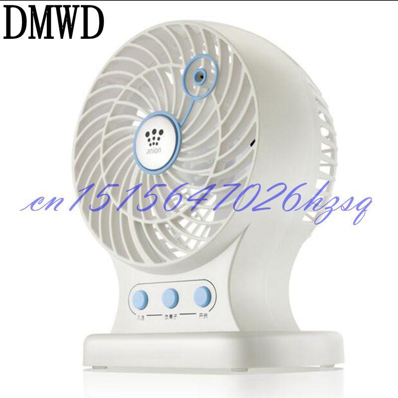 DMWD Household Mini USB 3W Anion fan Mute for Office/living room/desktop Two gears Roate the page air purifier