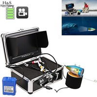 7 Inches Fish Finder HD 1000 TV Lines 30 Meters DC12 6V Underwater Video Camera Kit