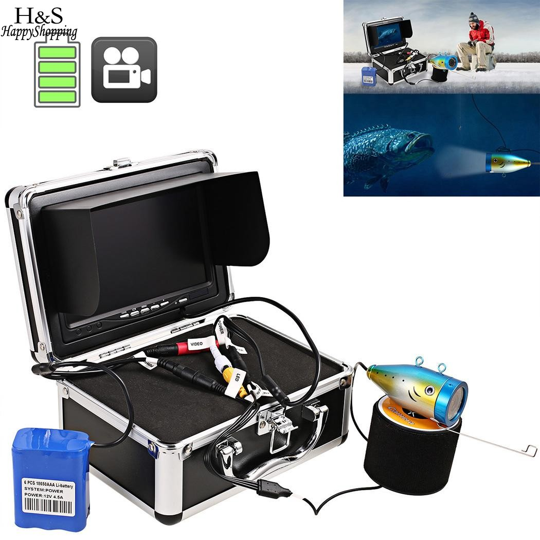 7 inches Fish Finder HD 1000 TV Lines 30 Meters DC12.6V Underwater Video Camera Kit Fishing in Ice Fish Finder Set