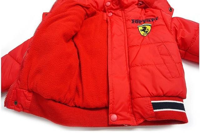 Children's Warm Coat Ferrari Logo