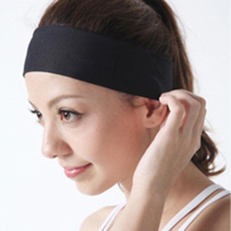 Women Girls Yoga Sports Sweatband Headband Elastic Hair