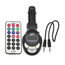 цена на Multi-function Car lute Shape MP3 Player Wire Rotated FM Transmitter Modulator USB SD Card U disk AUX CD Infrared Remote Control