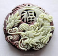 Natural Purple Jade Dragon Lucky Pendants Necklace Chinese ZiPao Yu Carved Jade Pendant Fine Jade Jewelry free rope