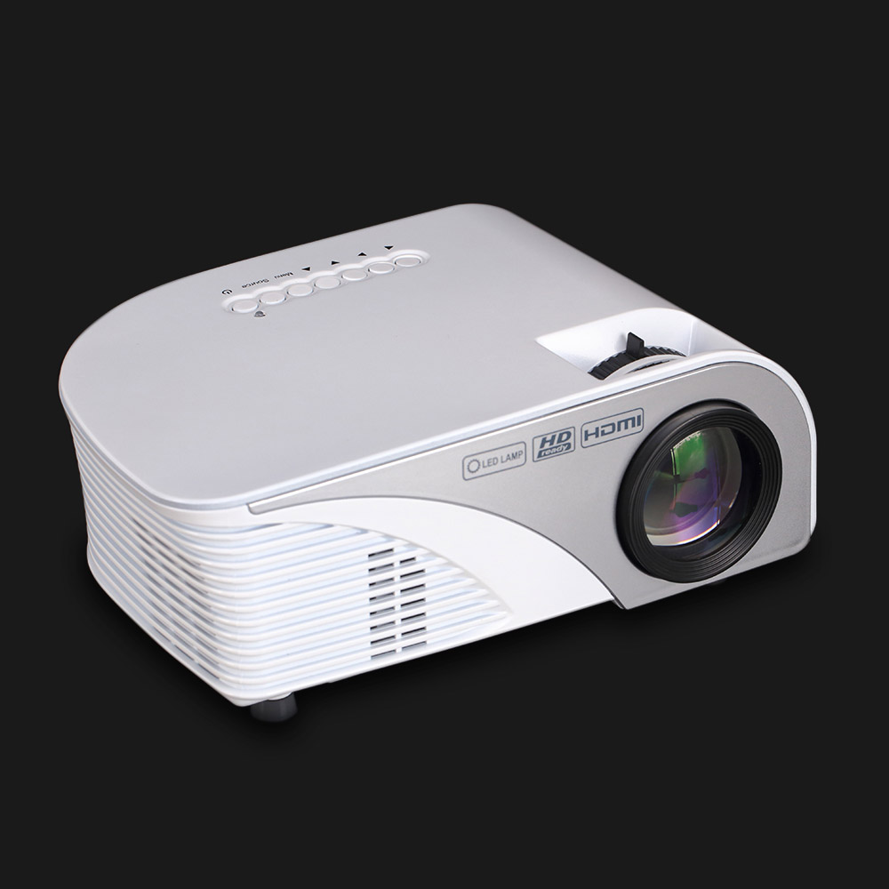 RD-805B 1200 Lumens Projector Rigal Portable 1080P LED Projector Throw 4 Screen Home Cinema 800*480 Support USB, VGA,HDMI,AV portable mini projector home cinema digital smart led projectors support 1080p movie pc video game can use mobile power supply