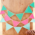 Candy Color Women Statement Necklace Chunky Necklaces & Pendants Triangles Necklaces Choker Collier Femme Fashion Women Jewelry