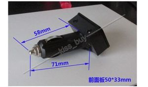 Image 2 - 3IN1 דיגיטלי LED מד מתח + מדחום + שעון DC 12 v רכב מצית שקע צג אוטומטי מתח זמן טמפ מטר