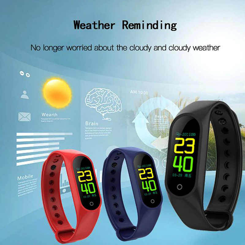 31c48304ec ... Bluetooth M3 sports Smart watch with Blood Pressure Alarm Heart Rate  Clock Step Fitness Tracker for ...