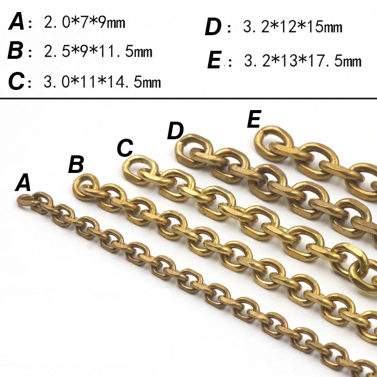 Brass DIY Chain luggage Long Man Waist Hanging Retro Ring Pants bag BD022 in DIY Craft Supplies from Home Garden