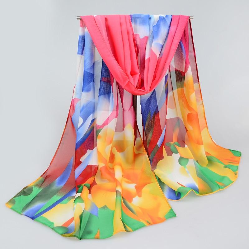 2017 New Women Chiffon Silk Scarfs Fashion Spring Square Scarves Print Shawl Summer Brand Shawls And Hijabs(China (Mainland))