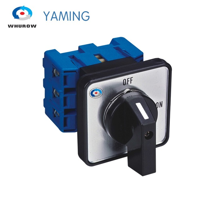 on off switch 63A 3 phase rotary changeover cam selector switch interruptor isolator disconnect switch 660v 25a on off on 3 phase 12 terminal rotary cam changeover combination switch