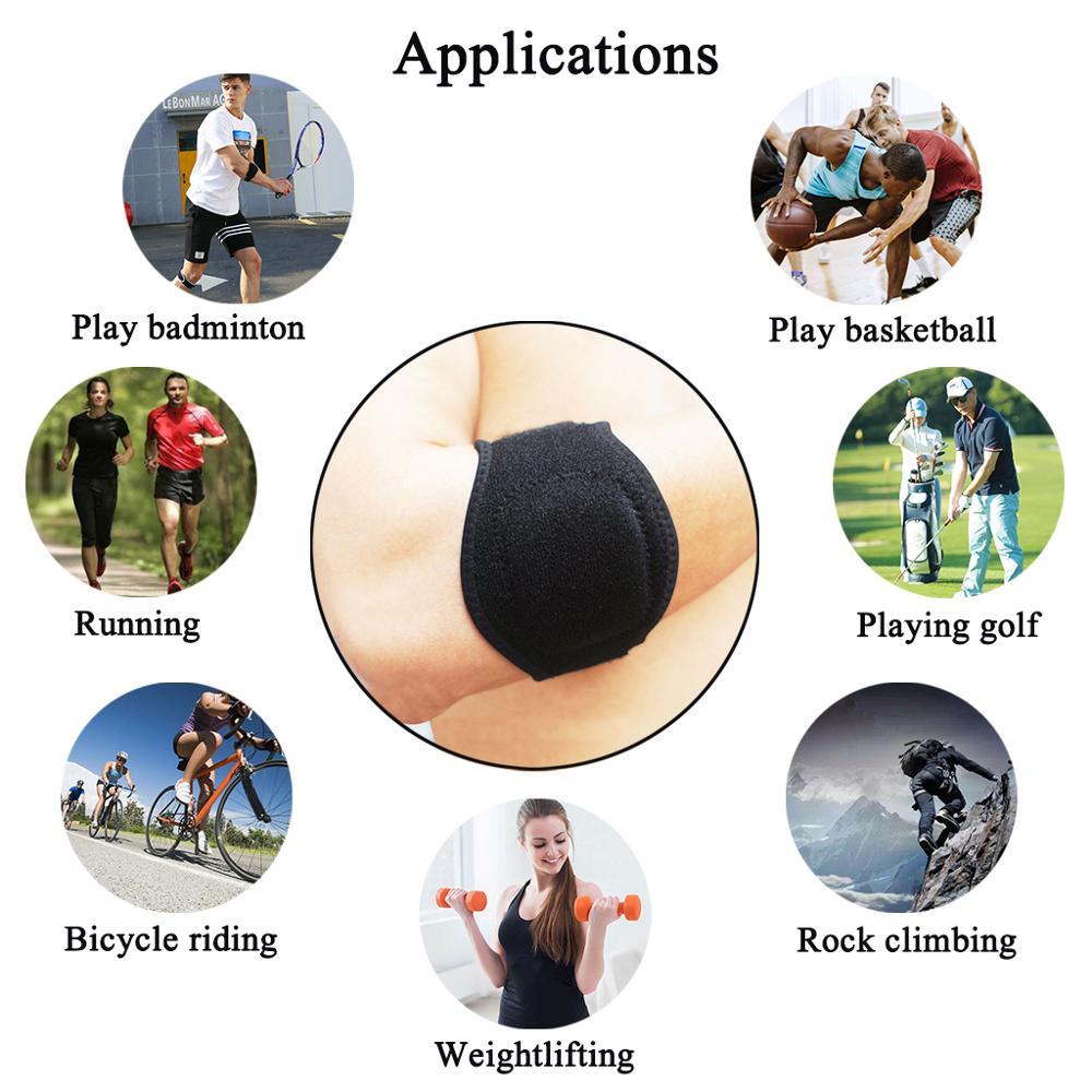 1X Fitness Ellenbogen Unterstützung Pad Für Tennis Golfer Unterarm ...