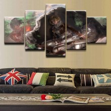 Canvas Picture Home Decor Wall Art Framework 5 Pieces Annie Leonhart  Attack on Titan Painting HD Prints Modular Poster