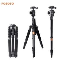 fosoto F-666 Professional Portable Q666 Tripod Monopod & 360 Degree Ball Head Quick Release Plate For Canon Nikon DSLR Camera