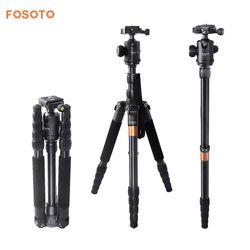 fosoto F-666 Professional Portable Q666 Tripod Monopod & 360 Degree Ball Head Quick Release Plate For Canon Nikon DSLR Camera