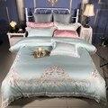 5 шт.  роскошный комплект постельного белья из египетского хлопка  кровать размера king queen  простыня с вышивкой  пододеяльник juego de cama parure de lit
