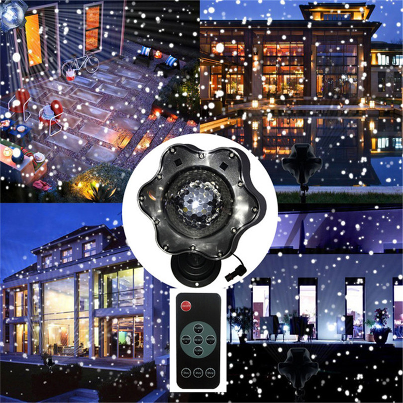 Trecaan Christmas Snow Laser Projector Lamps Snowflake Snowfall Garden LED Stage Light For New year Disco DJ Party Light mini 600w snow machine pro snow snowflake snow maker machine stage dj party show