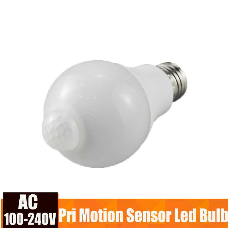 Led Bulb Light With Motion Sensor E27 5W 9W Smart Light Bulb 110V 220V PIR LED Bombillas For Home Corridor Aisle Stairs Balcony