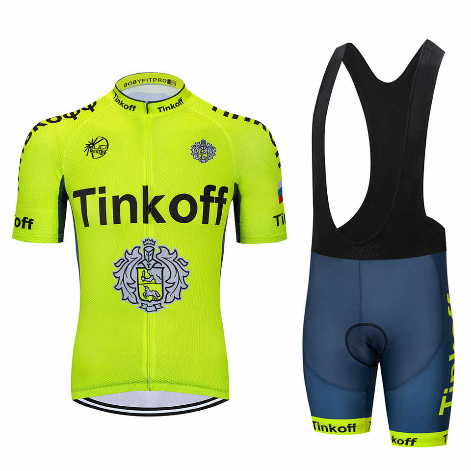 ... UCI 2018 Tinkoff saxo bank Short Sleeve Cycling Jersey kit Ropa Ciclismo  MTB Cycling Clothing ... dd0a75d15