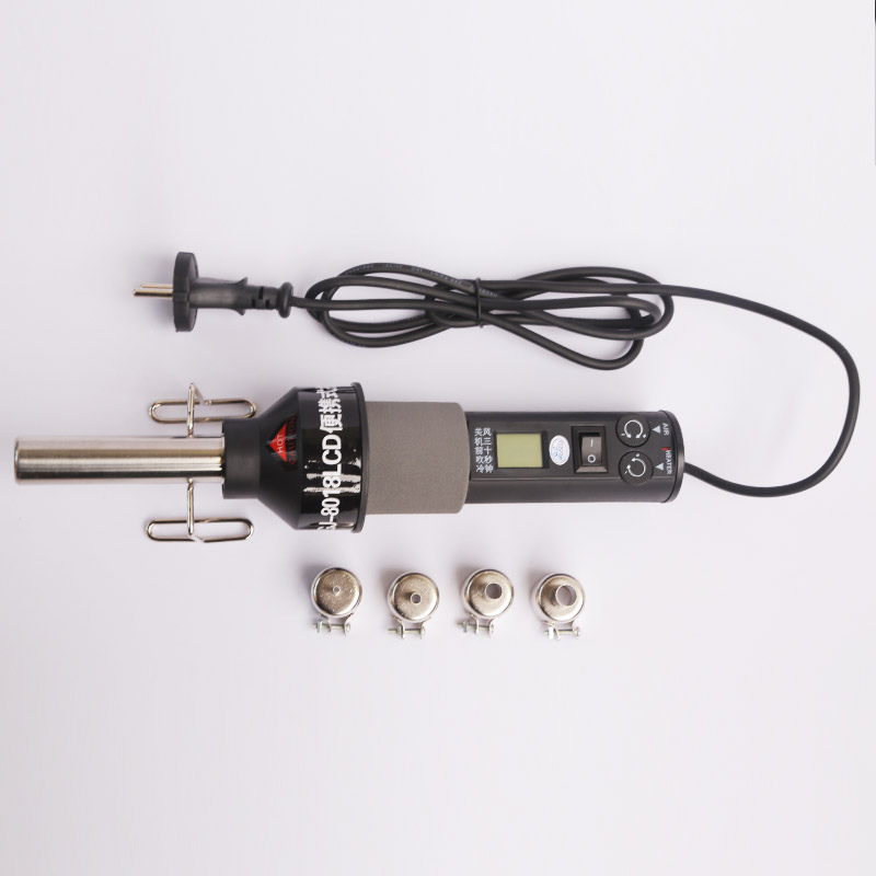 GONGJUE 8018LCD 450W 220V LCD Hot Air Gun Portable Soldering Rework Station ICs SMD Heat Gun Welding Repair For BGA Nozzle 10pcs lot 220v 2000w hot air gun powerful mini hand tools lcd temp adjustable heat gun 2nozzles for soldering and welding 8920e