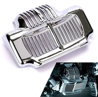 Motorcycle Chrome Stock Oil Cooler Cover For Harley Road Kings Road Glides Electra Glides 2011 2012 2013 2014 2015