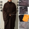 Chinese Traditional Long Kung Fu Robes Shaolin Monk Uniform Clothing Costume Buddhist Monk Robes