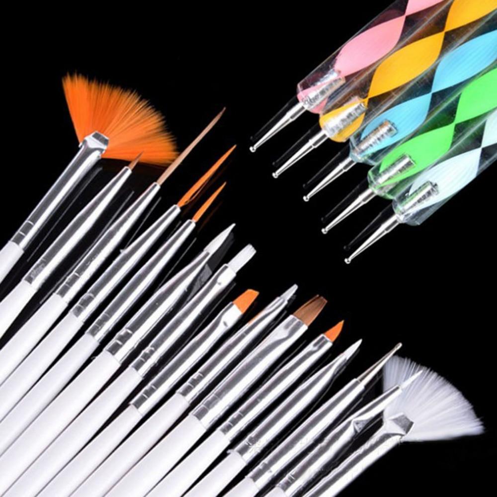 20pc Nail Art Design Painting Dotting Pen Brushes Tool Kit Set: ELECOOL 20pcs Nail Art Design Painting Dotting Detailing