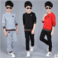 Retail children's sports suit boys and girls 2-12 years old children big virgin suit uniforms Spring clothes Jacket + Trousers 1