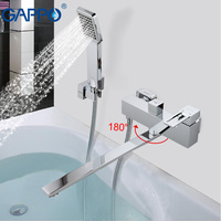GAPPO 1set Top Quality Wall Mount Bathtub Sink Faucet Bathroom Sink Home Mixer Tap Torneira With