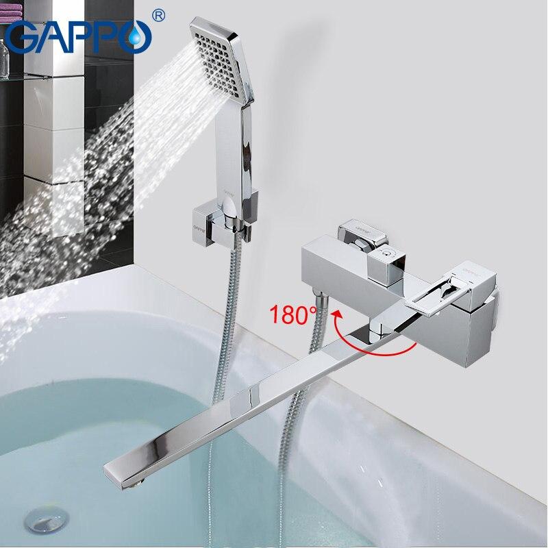 GAPPO смеситель для ванны Водопад смеситель для ванной кран краны настенный латунный Смеситель для ванны смеситель для ванны раковина кран ...