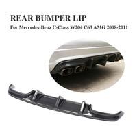 W204 Carbon Fiber Rear Bumper Diffuser Lip Spoiler for Mercedes Benz C Class W204 C63 AMG Sedan 4Door Only 2008 2011 TS Style