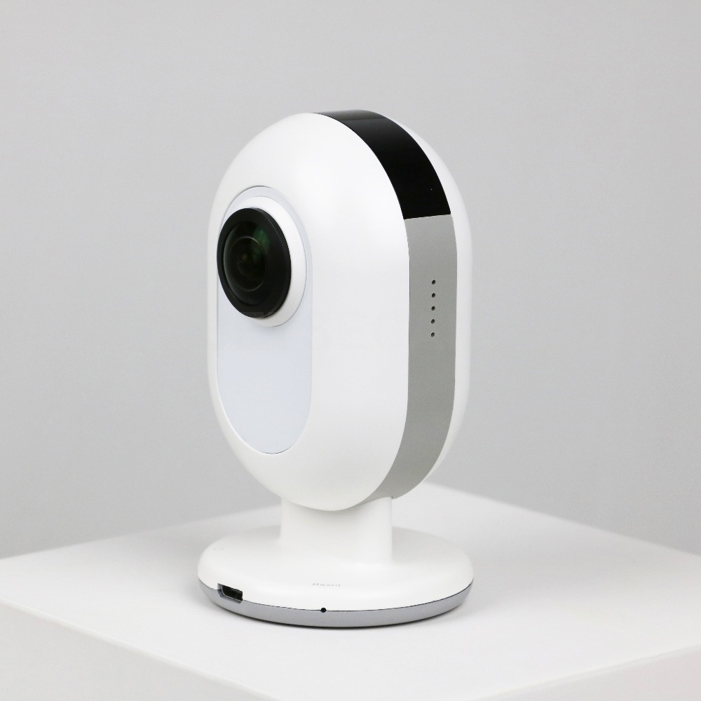 Caméra IP WI-FI avec 360 caméra large double lentille oeil de poisson 4MP VR vidéo pour android ou iOS mobile caméra de vidéosurveillance de sécurité à domicile