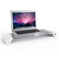 Aluminium Alloy Base Holder Smart 4 USB Port Charger Stand for PC Desktop Laptop Drop Shipping