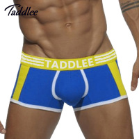 Taddlee Brand Sexy Men Underwear Boxer Trunks Cotton Men S Boxers Underwear Gay Penis Pouch WJ